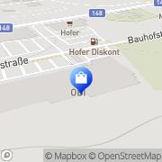 Karte OBI Markt Braunau Braunau am Inn, Österreich