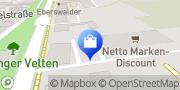 Karte Netto Filiale Velten, Deutschland