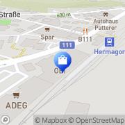 Karte OBI Markt Hermagor Hermagor, Österreich