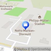 Karte Netto Filiale Greifswald, Deutschland