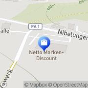 Karte Netto Filiale Tiefenbach, Deutschland