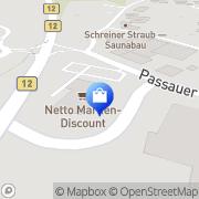 Karte Netto Filiale Salzweg, Deutschland