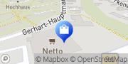 Karte NETTO Deutschland - schwarz-gelber Discounter mit dem Scottie Sassnitz, Deutschland