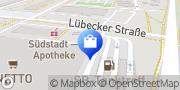 Karte NETTO Deutschland - schwarz-gelber Discounter mit dem Scottie Anklam, Deutschland