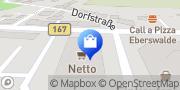 Karte NETTO Deutschland - schwarz-gelber Discounter mit dem Scottie Eberswalde, Deutschland
