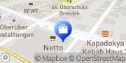Karte NETTO Deutschland - schwarz-gelber Discounter mit dem Scottie Dresden, Deutschland