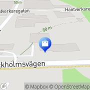 Karta STAPLES Mariestad, Sverige
