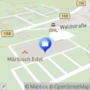 Karte Netto Filiale Oderberg, Deutschland