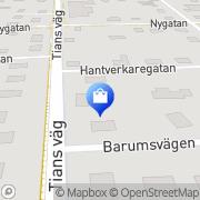 Karta Bäckmans Cykel & Fritid AB Bromölla, Sverige