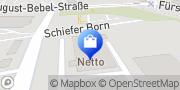 Karte NETTO Deutschland - schwarz-gelber Discounter mit dem Scottie Frankfurt (Oder), Deutschland