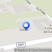 Map CONAD Via Appia Est, Italy