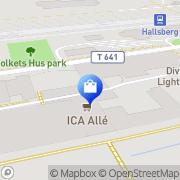 Karta LINDEX Hallsberg, Sverige