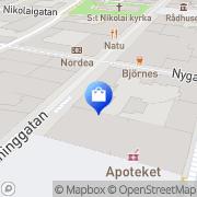 Karta TEKNIKMAGASINET Örebro, Sverige