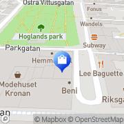 Karta Blå Skänken HB Karlskrona, Sverige