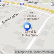Karta Cykel & Motor Säter AB Säter, Sverige