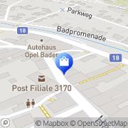 Karte Bader Josef Hainfeld, Österreich