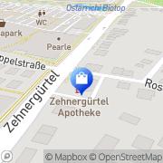 Karte Zehnergürtel Apotheke Wiener Neustadt, Österreich