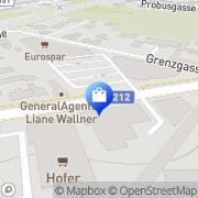 Karte KiK Textilien u Non-Food Baden, Österreich