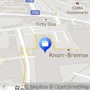 Karte Knorr-Bremse GmbH Mödling, Österreich