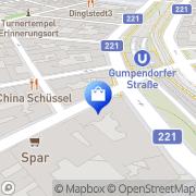 Karte Asia Supermarkt Wien, Österreich