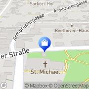 """Karte Apotheke """"Zum Weinberg"""" Wien, Österreich"""