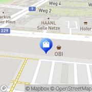 Karte OBI Markt Wien (21. Bez.) Wien, Österreich