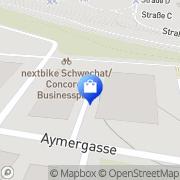 Karte Bossard Austria GmbH Schwechat, Österreich