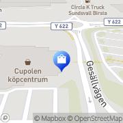 Karta BlomsterCupolen Sundsvall, Sverige