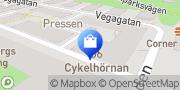 Karta Cykelhörnan i Sundbyberg Sundbyberg, Sverige