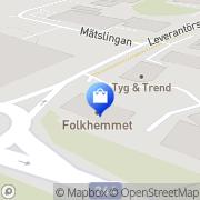 Karta FRAMA Svenska AB Täby, Sverige
