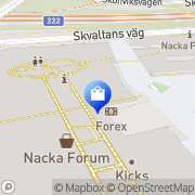 Karta Hunkemöller Nacka, Sverige