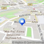 Mapa Apteka Olesno, Polska