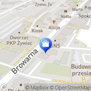 Mapa Apteka Żywiec, Polska