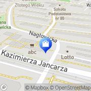 Mapa Apteka Prywatna Kraków, Polska