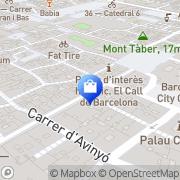 Map La Boheme Barcelona, Spain
