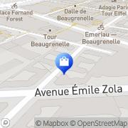 Carte de Jardin d'Enfants Mairie de Paris, France