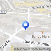 Carte de Aubade Paris Thiais, France