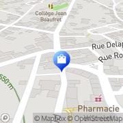 Carte de Aviva Assurances Auzances, France