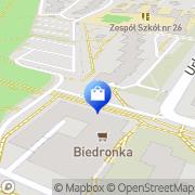 Mapa M-System Warszawa, Polska