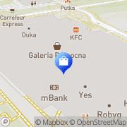 Mapa Yves Rocher Warszawa, Polska