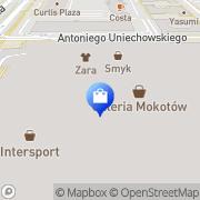 Mapa adidas Store Warszawa, Polska