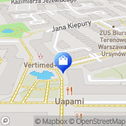 Mapa Apteka na Kabatach Warszawa, Polska