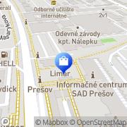 Map LEKÁREŇ ZDRAVIE - FarmEko, spol. s r.o. Prešov, Slovakia