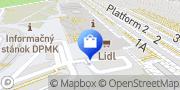 Map Lidl Košice, Slovakia
