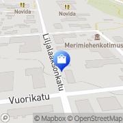 Kartta Vakka-Suomen Myllykaluste Oy Uusikaupunki, Suomi