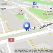 Kartta Vaasan Halpa-Halli Vaasa, Suomi