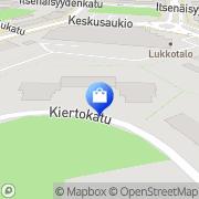 Kartta Kirpputorikauppa Fiinitori Pori, Suomi
