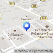 Mapa Apteka Grabownica Starzeńska, Polska