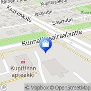 Kartta Turun kaupunki terveystoimen sairaala-apteekki Turku, Suomi