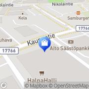 Kartta Kauhavan Halpa-Halli Kauhava, Suomi